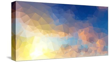Abstract Low Poly Background, Geometry Triangle- teerawit-Stretched Canvas Print