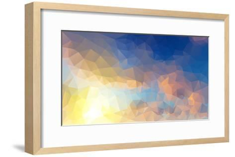 Abstract Low Poly Background, Geometry Triangle- teerawit-Framed Art Print