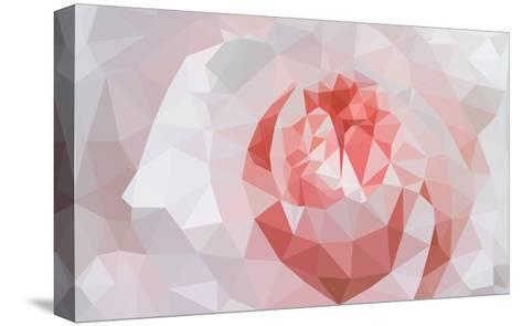 Rose Closeup in Low Poly Style-lamyai-Stretched Canvas Print
