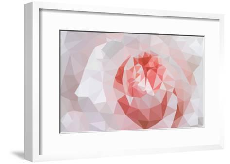 Rose Closeup in Low Poly Style-lamyai-Framed Art Print