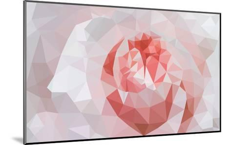 Rose Closeup in Low Poly Style-lamyai-Mounted Art Print