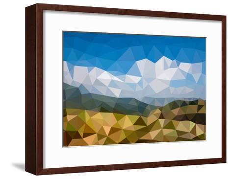 Background in Low Poly Style-lamyai-Framed Art Print