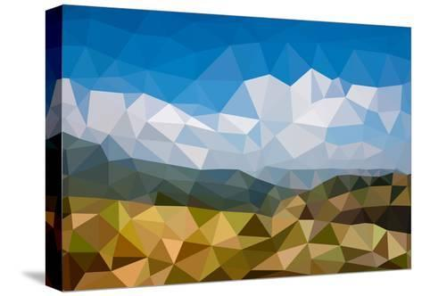Background in Low Poly Style-lamyai-Stretched Canvas Print