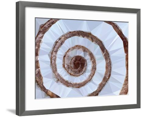 Low-Poly Shell Background-mbolina-Framed Art Print