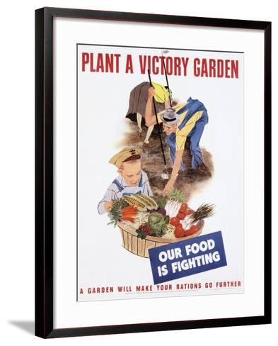 Plant a Victory Garden Poster--Framed Art Print