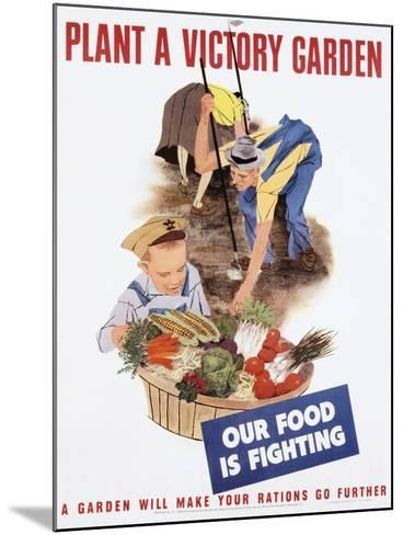 Plant a Victory Garden Poster--Mounted Photographic Print