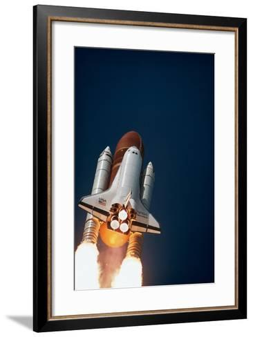 Launch of Space Shuttle Discovery--Framed Art Print