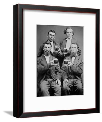 Four Guys and their Mugs of Beer, Ca. 1880--Framed Art Print