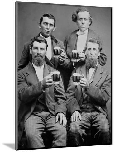 Four Guys and their Mugs of Beer, Ca. 1880--Mounted Photographic Print
