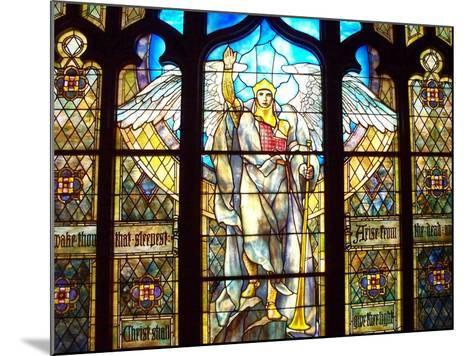 Angel of the Resurrection Stained Glass Window-Louis Comfort Tiffany-Mounted Photographic Print