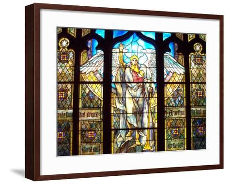 Angel of the Resurrection Stained Glass Window-Louis Comfort Tiffany-Framed Art Print