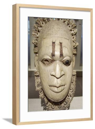 Benin Iyoba Pendant Mask--Framed Art Print