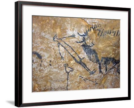 Cave Painting of Bird-Headed Man at Lascaux--Framed Art Print