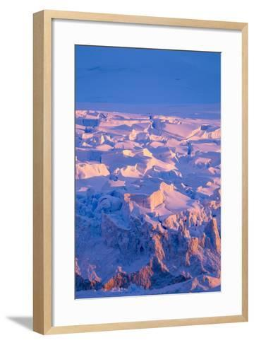Midnight Sun Lights Glacier, Antarctica-Paul Souders-Framed Art Print