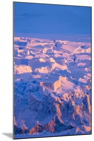 Midnight Sun Lights Glacier, Antarctica-Paul Souders-Mounted Photographic Print