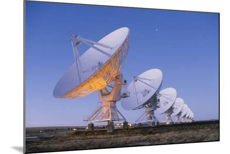 Radio Telescope Array at Dawn-Roger Ressmeyer-Mounted Photographic Print