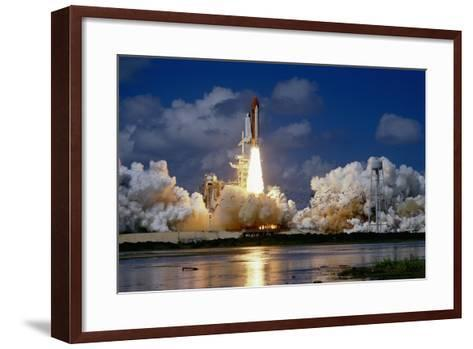 Launch of the Space Shuttle Discovery-Roger Ressmeyer-Framed Art Print