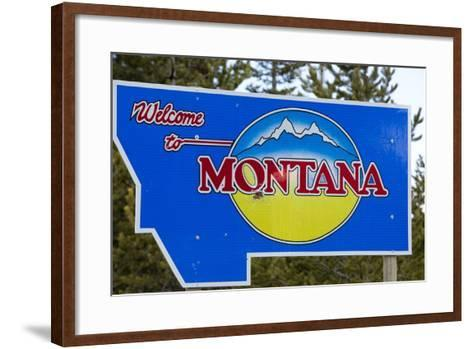 Welcome to Montana Sign-Paul Souders-Framed Art Print