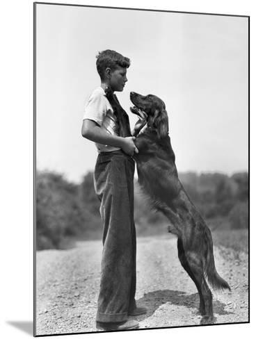Teenage Boy with Irish Setter-Philip Gendreau-Mounted Photographic Print