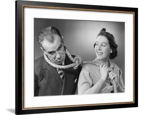 Wife Leading Husband with Noose-Philip Gendreau-Framed Art Print