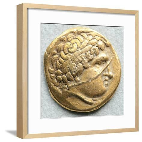 Gold Coin with Head of Apollo--Framed Art Print