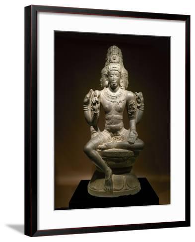 Sculpture of Shiva--Framed Art Print