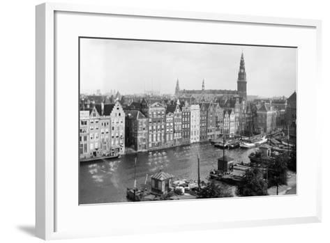 Tourist Photo in the Netherlands, Ca. 1910--Framed Art Print