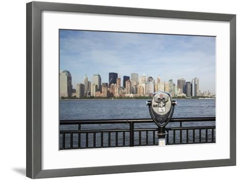 Manhattan Skyline from New Jersey-Paul Souders-Framed Art Print