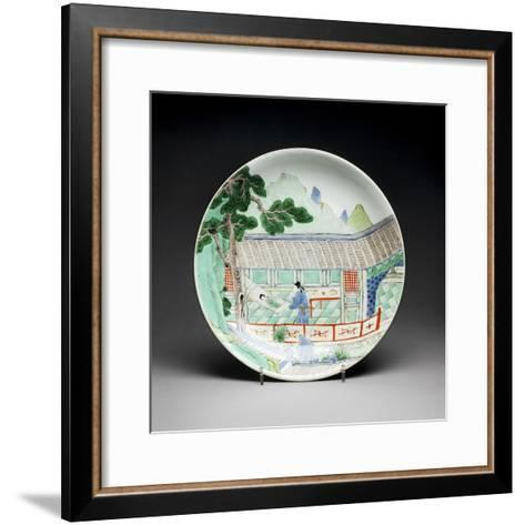 Qing Dynasty Porcelain Plate--Framed Art Print