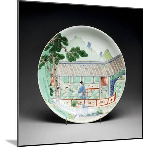 Qing Dynasty Porcelain Plate--Mounted Photographic Print