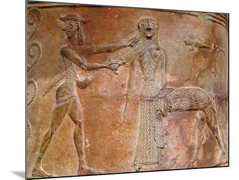 Detail of Cycladic Terracotta Relief of Perseus Killing Medusa--Mounted Photographic Print