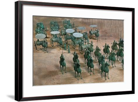 Eastern Han Dynasty Bronze Cavalry and Chariots--Framed Art Print