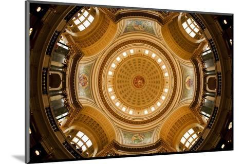 Dome in the Wisconsin State Capitol-Paul Souders-Mounted Photographic Print