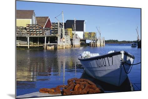 Boat and Fishermen's Wharf in Nova Scotia-Paul Souders-Mounted Photographic Print