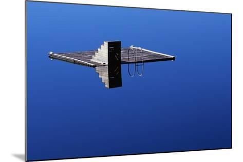 Diving Platform on Calm Lake-Paul Souders-Mounted Photographic Print