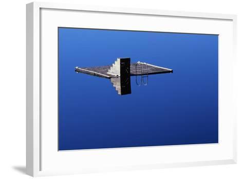 Diving Platform on Calm Lake-Paul Souders-Framed Art Print