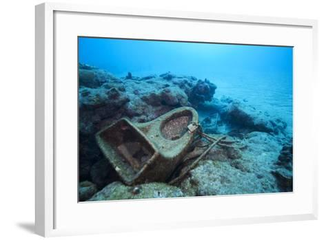 Toilet Bowl Resting on Coral Reef in Dominican Republic-Paul Souders-Framed Art Print