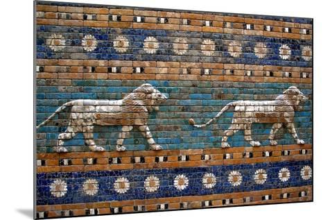 Detail of Lions on Ishtar Gate at Pergamon Museum--Mounted Photographic Print
