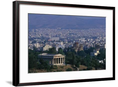 Hephaistion Temple Overlooking Athens-Paul Souders-Framed Art Print
