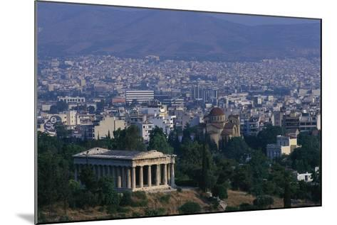 Hephaistion Temple Overlooking Athens-Paul Souders-Mounted Photographic Print