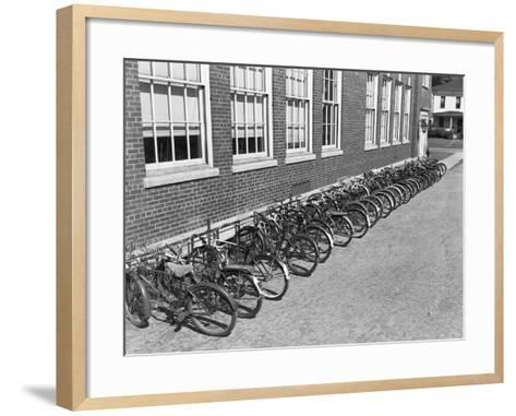 Bikes on Bike Rack-Philip Gendreau-Framed Art Print