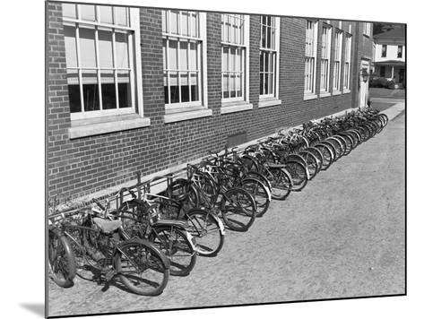 Bikes on Bike Rack-Philip Gendreau-Mounted Photographic Print