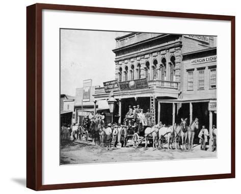 Wells Fargo Express Office-Philip Gendreau-Framed Art Print