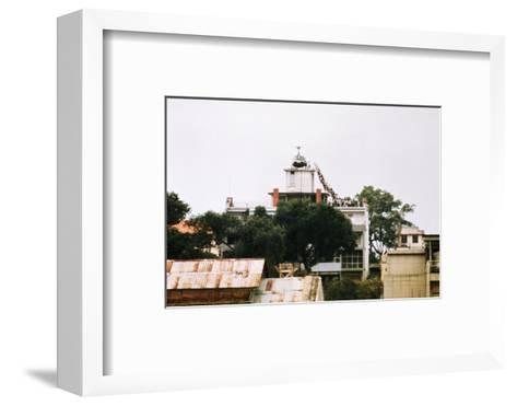 Evacuees Boarding a Helicopter--Framed Art Print