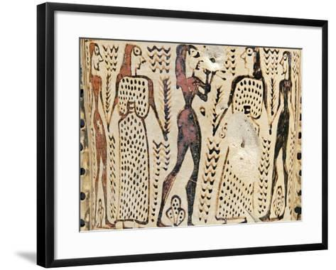 Couples Dancing to the Sound of the Aulos--Framed Art Print