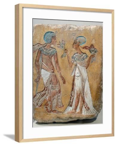Armana Style Relief of a Royal Couple--Framed Art Print