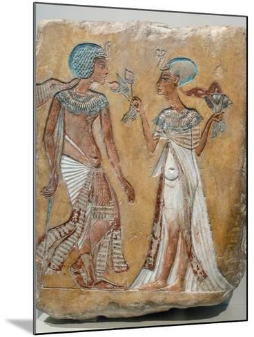 Armana Style Relief of a Royal Couple--Mounted Photographic Print