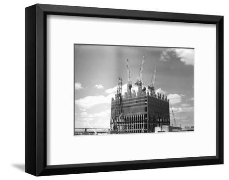 World Trade Center under Construction-Philip Gendreau-Framed Art Print