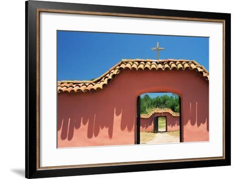 Gates at Mission La Purisima-Richard Cummins-Framed Art Print