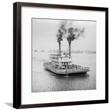 Ferry Boat on the Mississippi River--Framed Art Print